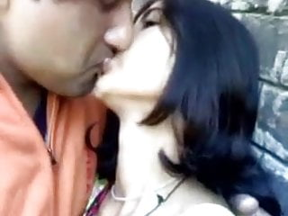 He just love kissing his sweet looking Indian girlfriend