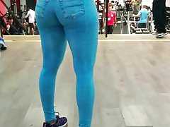 FIT MILF GREAT ASS TIGHT JEGGINGS