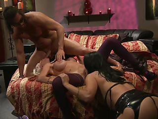 Erotic cougars engages in a thrilling threesome sex