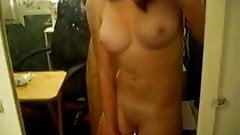 Teen Masturbates With Brush In The Mirror For Lover