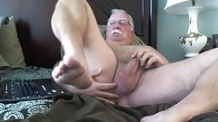 Sexy mature man playling his cock