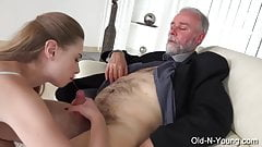 TeenMegaWorld - Old n Young - Young Escort Fucks Him