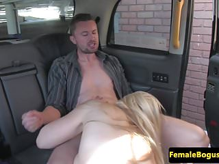 Preview 3 of Female british cabbie cockrides her passenger