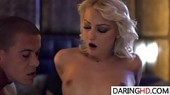 Katy Rose wears stockings and gets drilled
