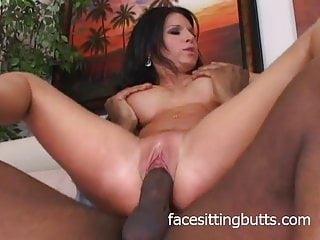 Brunette whore is a fan of black dick