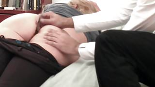 Redheaded Milf generously offered her Ass to be penetrated