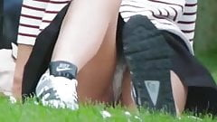 Beautiful Upskirt In The Park