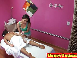 Asian masseuse sixtynines client with spycam
