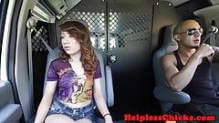 Cockriding teen dominated in strangers van