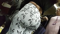 Huge ass big booty white pants candid
