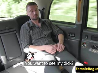 Preview 2 of Female british cabbie cockrides her passenger