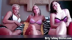 Three dommes encouraging you to jerk off JOI
