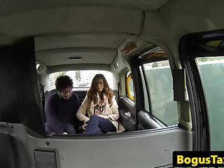 Preview 1 of Real taxi couple fucking on the backseat