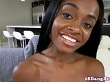 Teenage ebony cocksucking before doggystyle