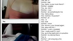 2 girls have fun on chatroulette
