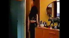 Frances Barber Black Bra & Topless.