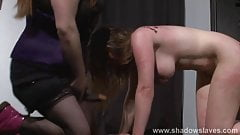 Bizarre lesbian bdsm and slapping humiliation of submissive