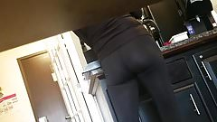 Hotel service lady's ass and vpl
