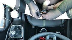 in Nylons in the Car