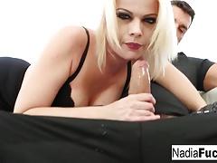 Blonde pornstar Nadia gets fucked by Ramon Nomar