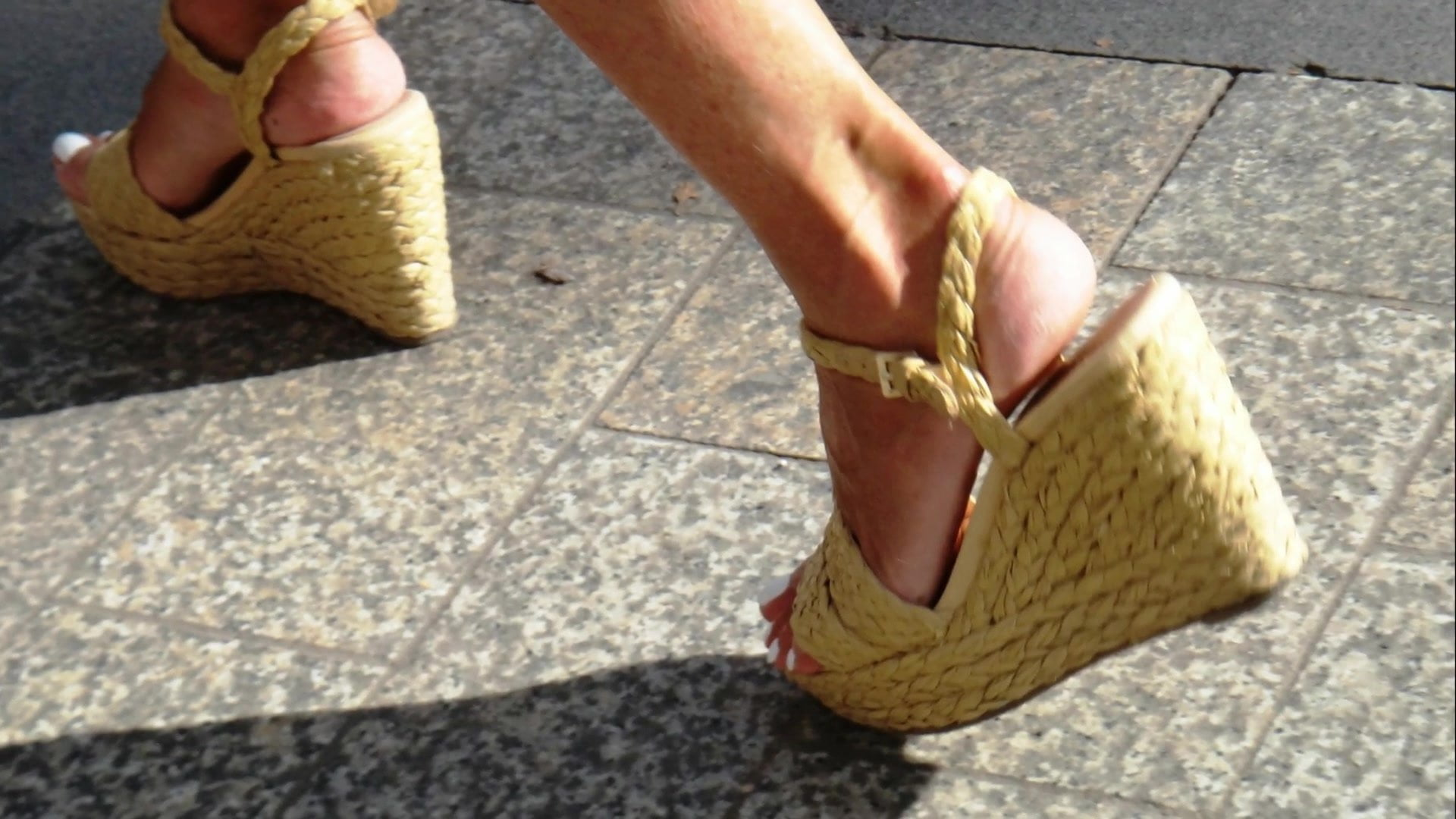 Horny ft in wonderful wegdes heels (Half 3)