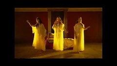 three divas nude in seethrough clothing