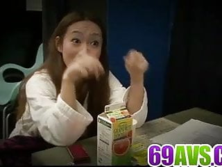 Kazumi Nanase sure loves dealing two cocks