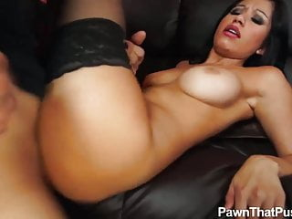 Lingerie stockings model Mandy fucked in my Pawn shop