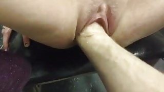 White Girl getting her Pussy Fisted