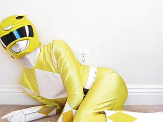 Yellow Ranger Masturbates
