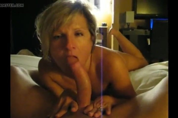 Hot Blonde Wife Sucking Cock
