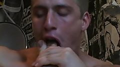 Homo freak loves sniffing his socks and sucking his toes