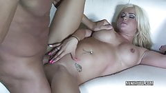 Petite slut Crista Moore gets her tiny pussy pounded hard