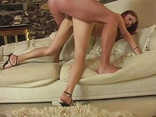 Slender redhead girl has passionate sex with her boyfriend