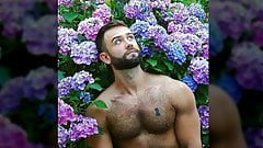 0167  Nude of muscular men.