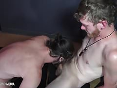 Cum Hungry punks switch-suck and swallow