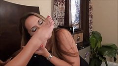 Angel and Tay convince Dre - lesbian foot licking threesome