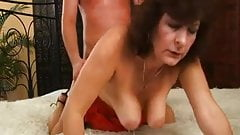 Hairy mature loves cock