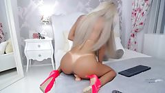 Hot Blonde Ride Toy In Ass