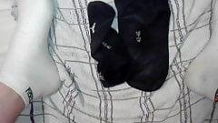 German Boy big load cum's in Socks on Socks