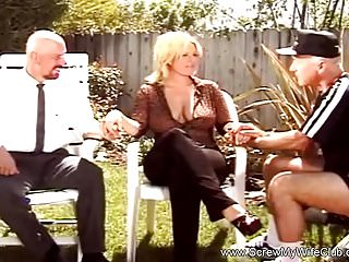 Preview 1 of Fuck A Stranger In The Backyard With Amateur MILF Swinger