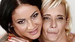 GILF and her lesbian friend