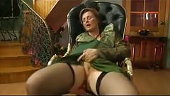 Granny get fucked in her chair
