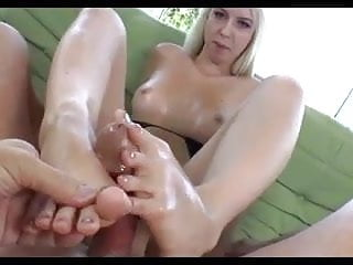 big load of cum all over my tiny feet