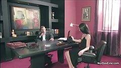 Boss fucks his horny secretary