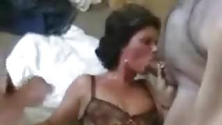 Marie with 3 cocks
