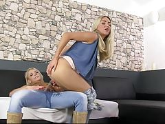 Blonde Babe Pissing On Blonde Babe by FetishGreg88