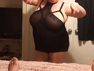 My BBW Wife performing again part 1
