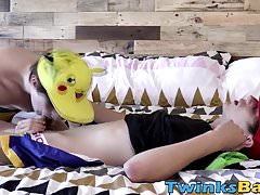 Pokemon twinks Kyle and Bryce Christiansen barebacking