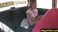 Cocksucking taxi euro babe taken for a ride
